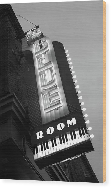 The Blue Room Jazz Club, 18th & Vine Wood Print