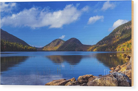 The Bubbles And Jordan Pond. Wood Print