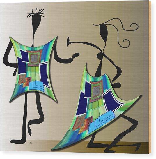 The Dancers Wood Print
