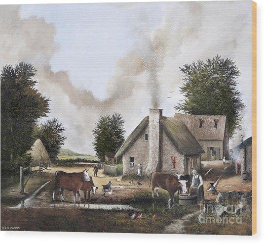 The Farmyard Wood Print
