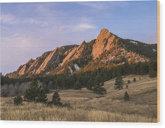 The Flatirons Wood Print