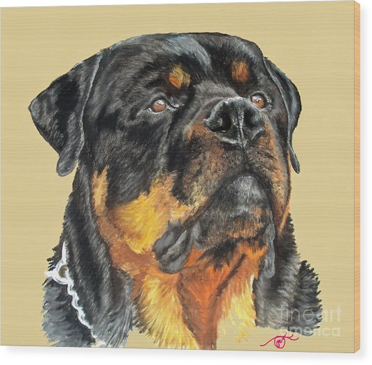 The Guardian Wood Print by Ann Marie Chaffin