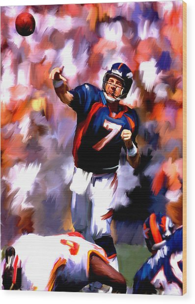 The Gun IIi  John Elway Wood Print