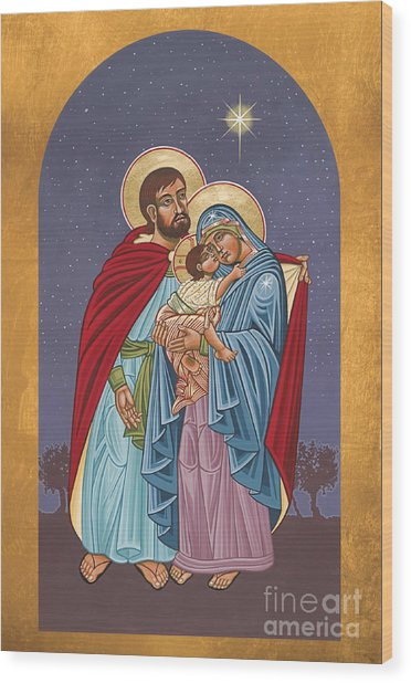 The Holy Family For The Holy Family Hospital Of Bethlehem 272 Wood Print