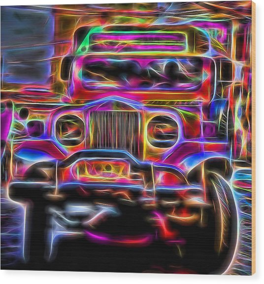 the Jeepney Wood Print