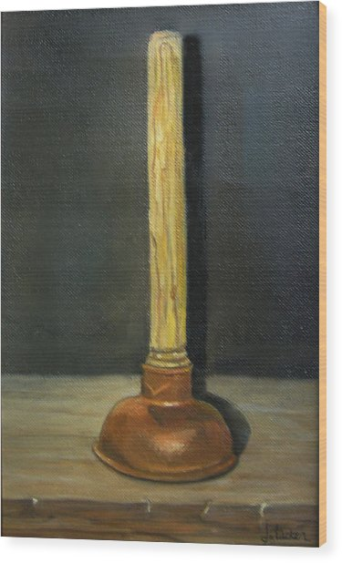 The Lone Plunger Wood Print