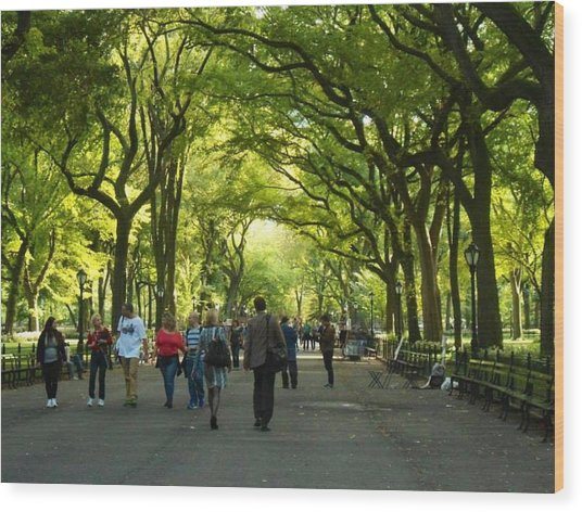 The Mall Wood Print