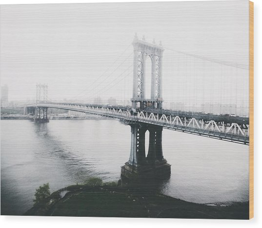 The Manhattan Bridge Wood Print
