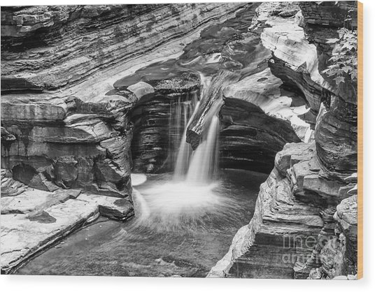 The Narrows Watkins Glen Wood Print