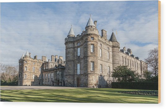 The Palace Of Holyroodhouse Wood Print