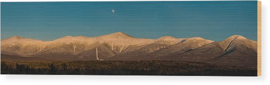 The Presidential Range White Mountains New Hampshire Wood Print