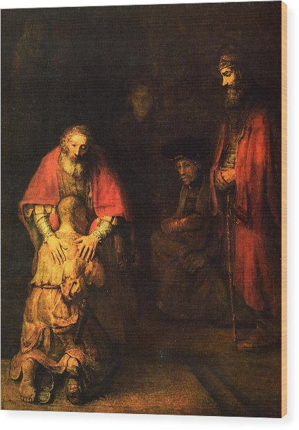 The Prodigal Son Wood Print