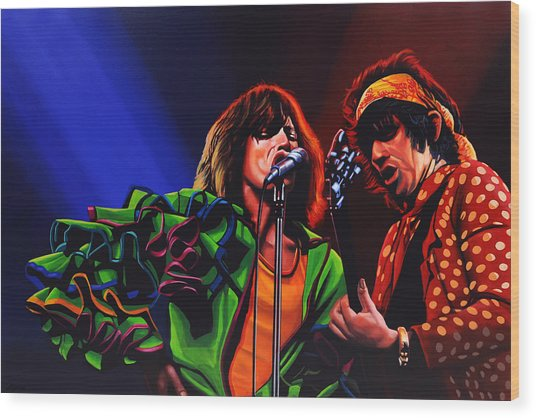 The Rolling Stones 2 Wood Print