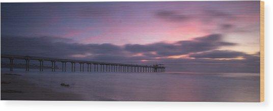 The Scripps Pier Wood Print