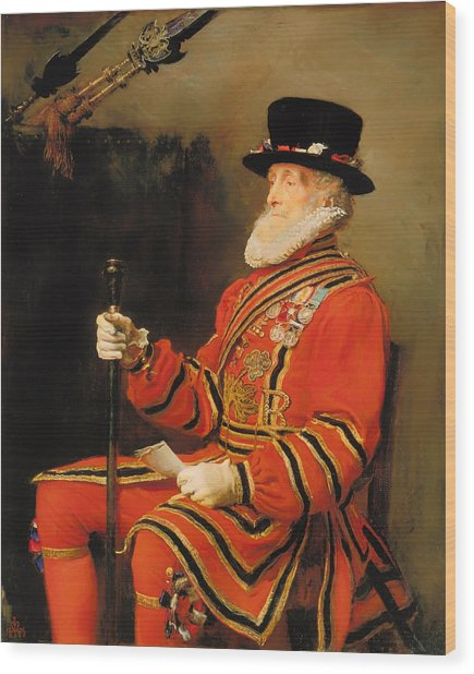 The Yeoman Of The Guard Wood Print