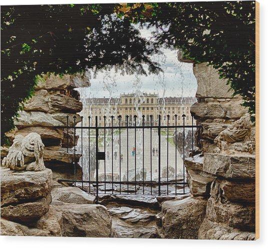 Through The Gate Wood Print by Viacheslav Savitskiy