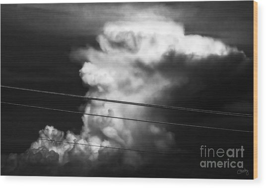 Thunderhead Wood Print