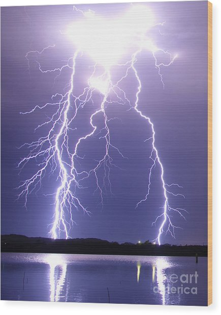 Thunderstruck Wood Print