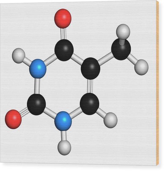 Thymine Nucleobase Molecule Wood Print
