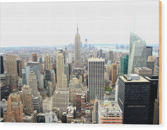 Top Of The Rock Wood Print by Jon Cotroneo