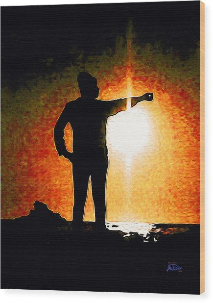 Touching The Sun Wood Print