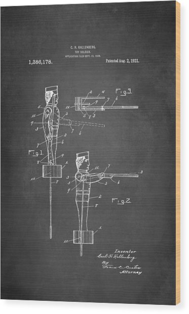 Toy Soldier Patent 1921 Wood Print
