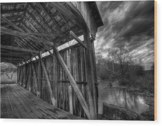 Trinity Road Covered Bridge Wood Print