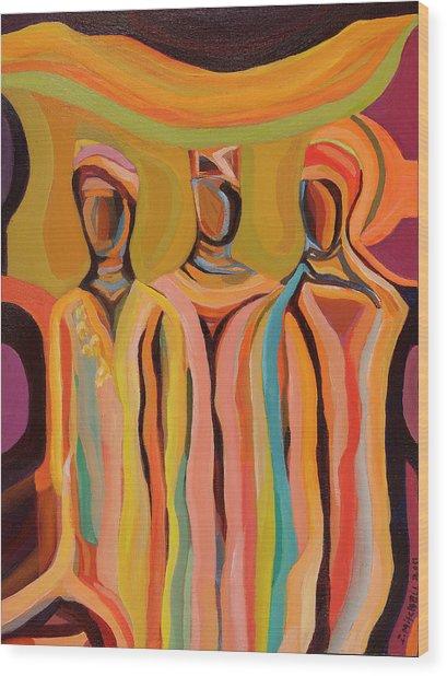Trio Wood Print