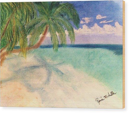 Tropical Shores Wood Print