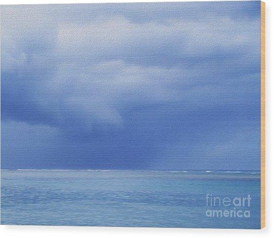 Tropical Storm Wood Print