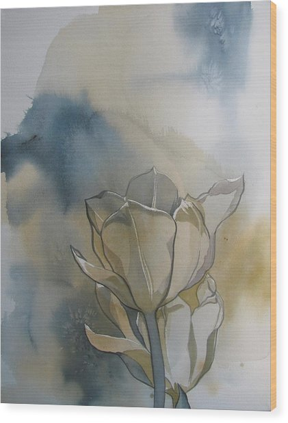 Tulip Abstraction Wood Print by Alfred Ng