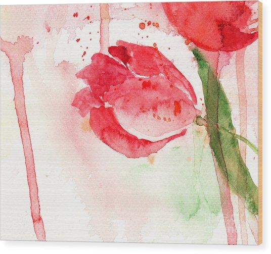 Tulip Flower Wood Print