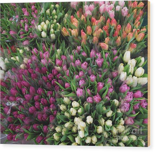 Tulip Spree Wood Print