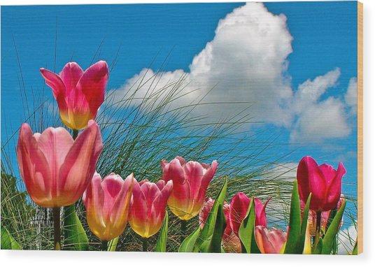 Flower 8 Wood Print
