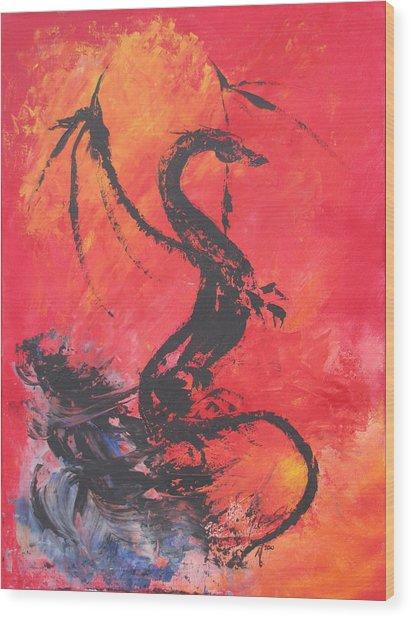 Turbulent Dragon Wood Print