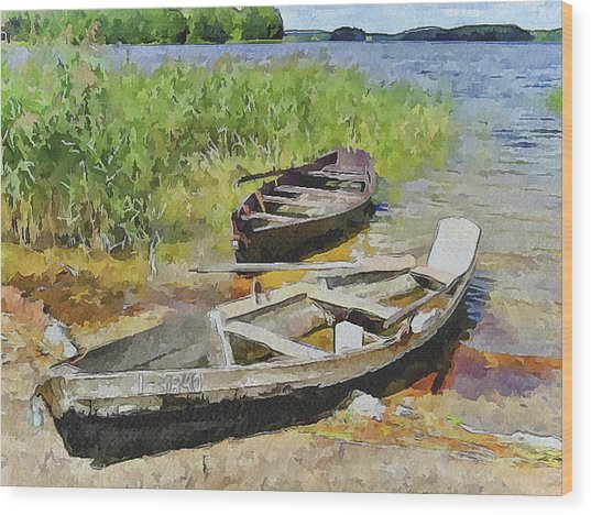 Two Boats Wood Print by Yury Malkov