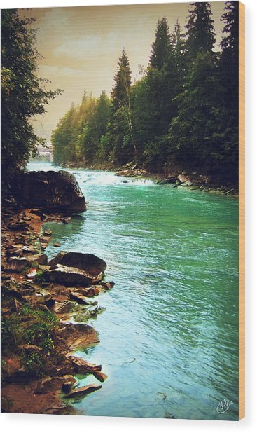Ukrainian River Wood Print