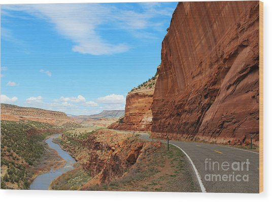 Wood Print featuring the photograph Unaweep Tabeguache Scenic Byway by Kate Avery