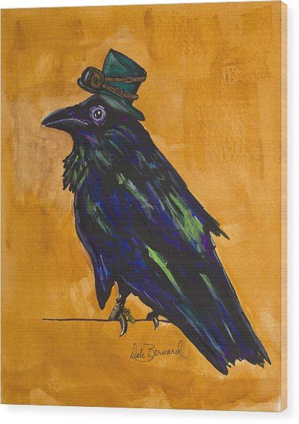 Uncommon Raven Love 4 Wood Print