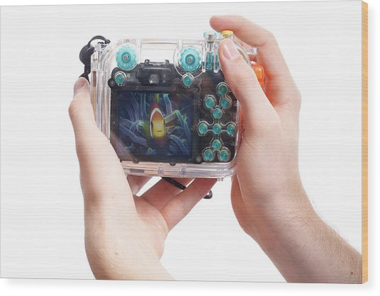 Underwater Camera Wood Print