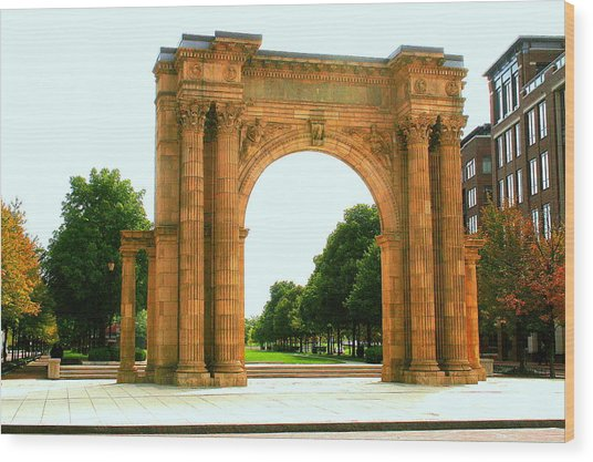 Union Station Arch Wood Print