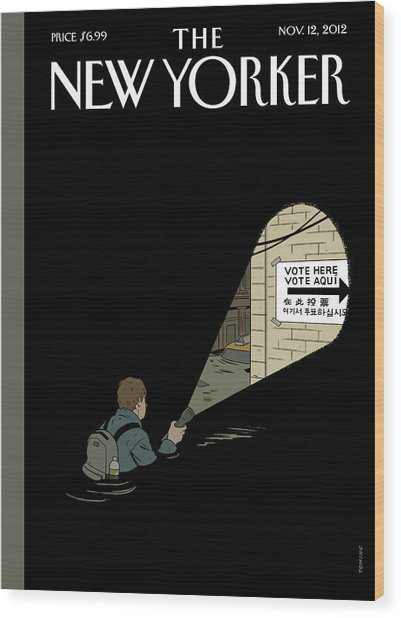 New Yorker November 12th, 2012 Wood Print