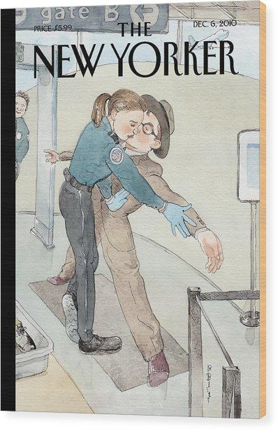 New Yorker December 6th, 2010 Wood Print by Barry Blitt