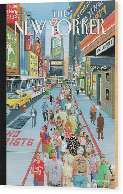 New Yorker October 3rd, 2011 Wood Print by Bruce McCall