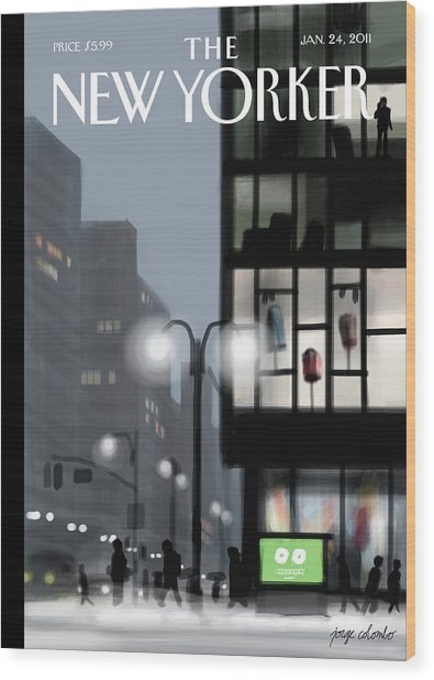 Fifth Avenue And Forty-second Street Wood Print