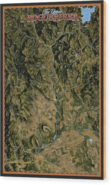 Upper Rogue River Wood Print by Pete Chadwell