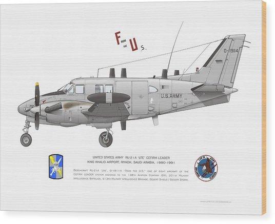 U.s. Army Ru-21a Wood Print