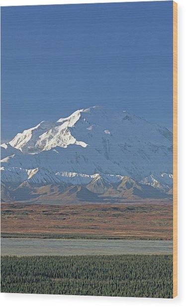 Usa, Alaska, Mount Mckinley, Mckinley Wood Print