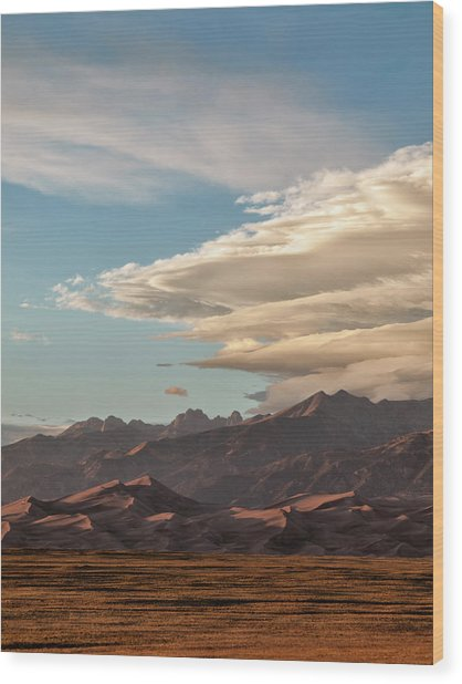 Usa, Colorado, Great Sand Dunes Wood Print by Ann Collins