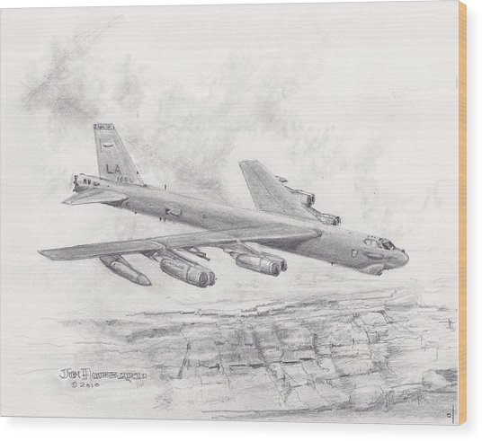 Usaf B-52 Stratofortress  Wood Print